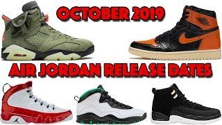 OCTOBER 2019 AIR JORDAN RELEASE DATES