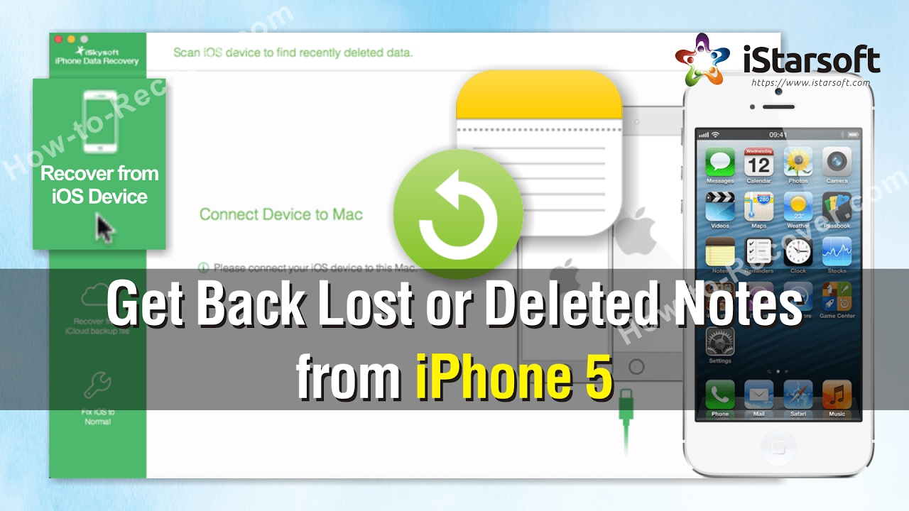 recover deleted notes iphone how to get back lost or deleted notes from iphone 5 9687