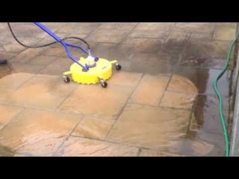 DC Driveway Services cleaning Patio slabs at 250 bars pressure washer