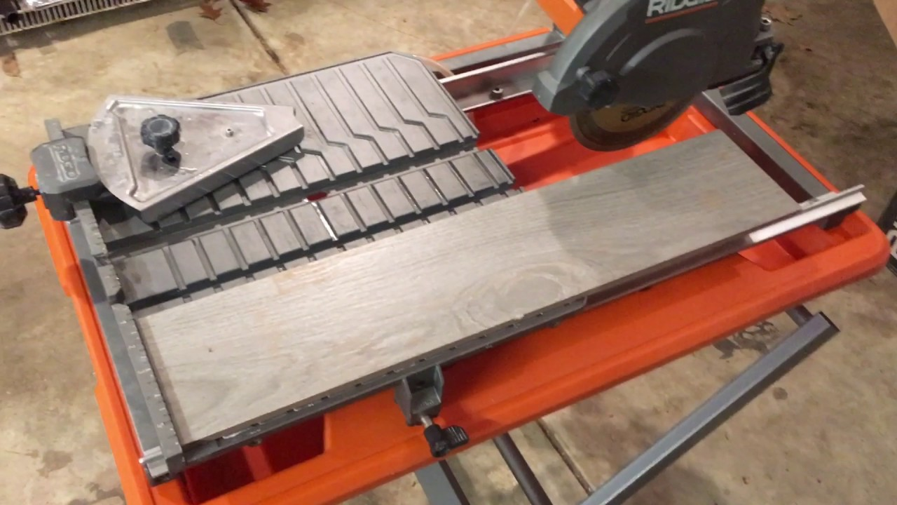 Ridgid 7 Job Site Tile Saw Review