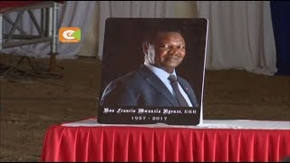 Francis Nyenze azikwa nyumbani kwake eneo la Kabati, kitui