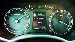 Skoda Octavia 2.0 TDI 0-200 km/h acceleration top speed