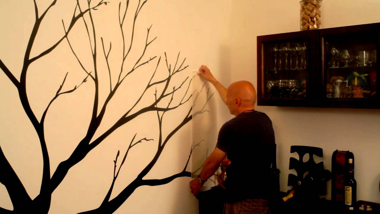 How To Apply Vinyl Wall Decal Tree Wall Decal By Cutzzcom YouTube - Vinyl wall decal application