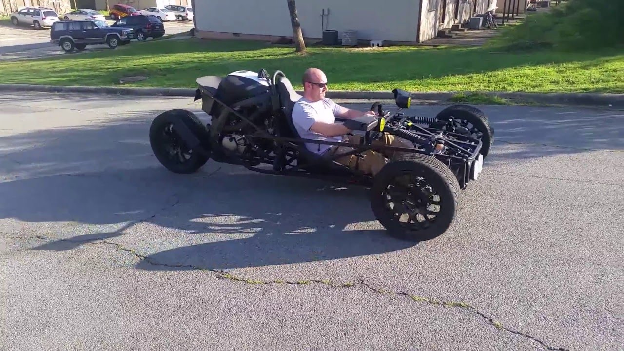 Sv650 reverse trike build  YouTube
