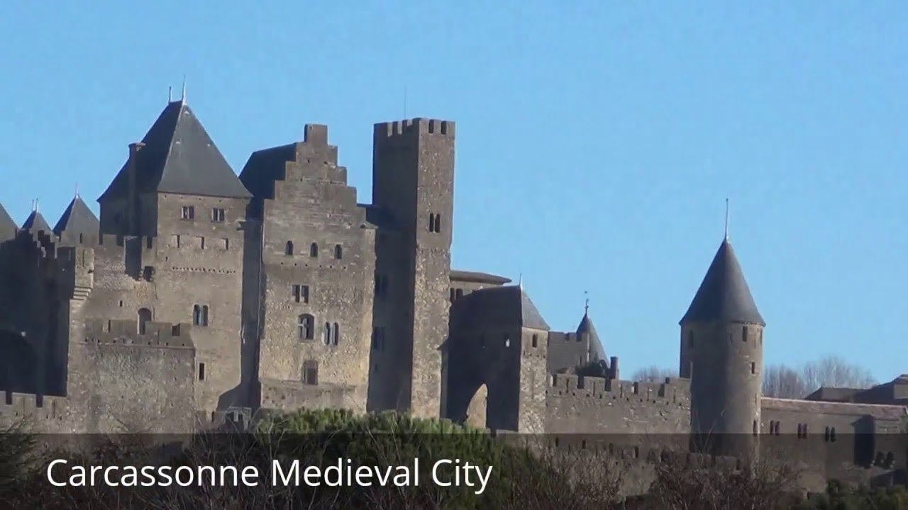 places to see in carcassonne france carcassonne medieval city youtube. Black Bedroom Furniture Sets. Home Design Ideas