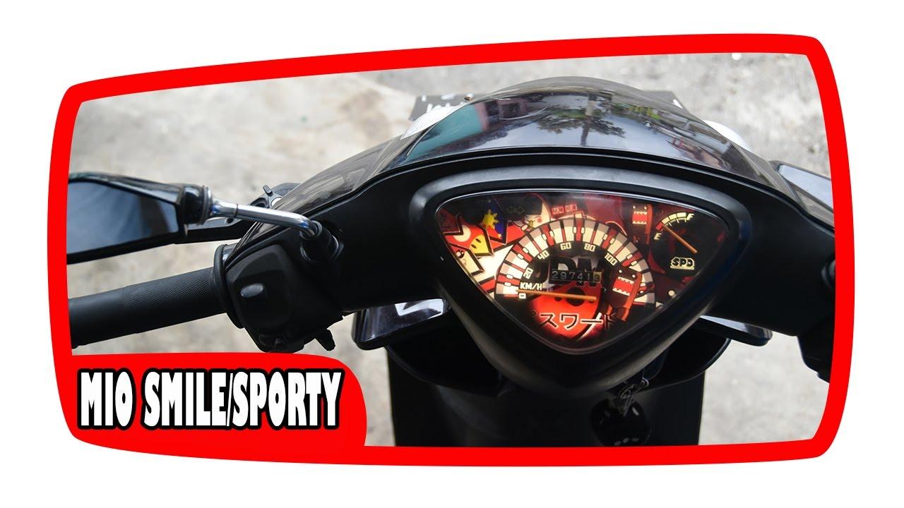 Cara Membongkar Speedometer Mio Smile  Sporty Dengan Merubah Panel Speedo Custom