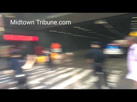 Fire and smoke on Port Authority Bus Terminal 8 Ave Manhattan NY part 1