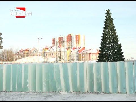 В Пыть-Яхе началось возведение ледовых городков
