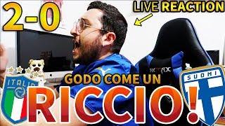 G0D0 COME UN RICCI000!!! ITALIA-FINLANDIA 2-0 [LIVE REACTION]