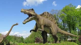 Fun Dino Park Dream Park in Poland Ochaby Life size giant dinosaur