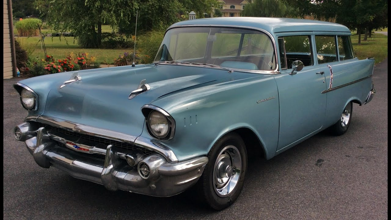 1955 chevrolet handyman 2 door wagon street rod - 1957 Chevrolet Handyman Wagon Chevy Nomad Misty Blue For Sale