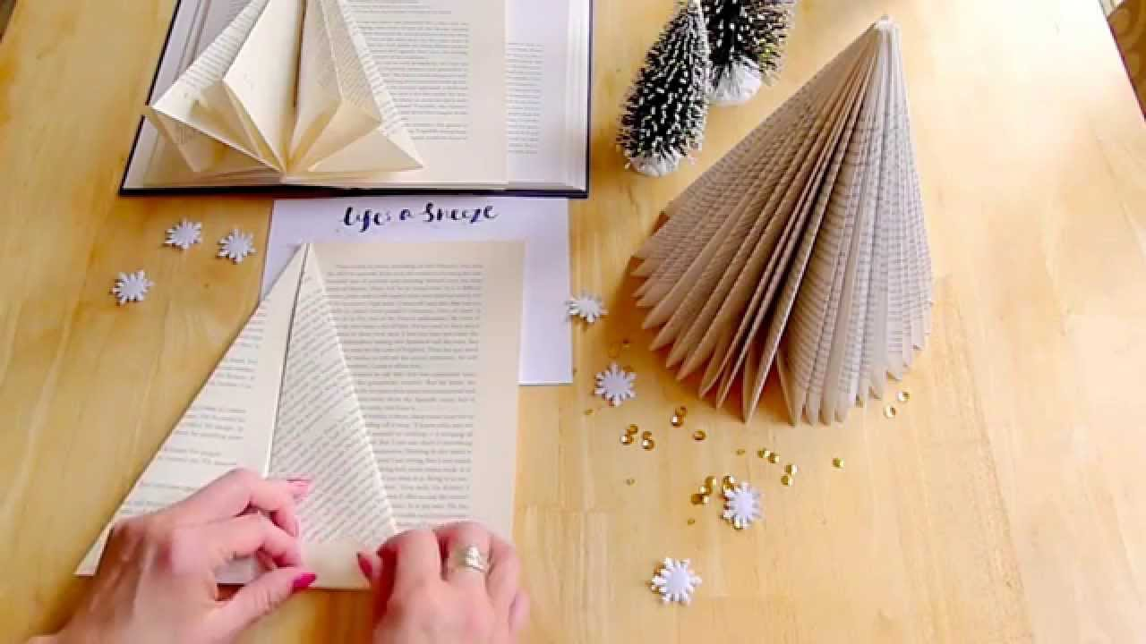 How To Make A Folded Book Tree For Christmas Youtube