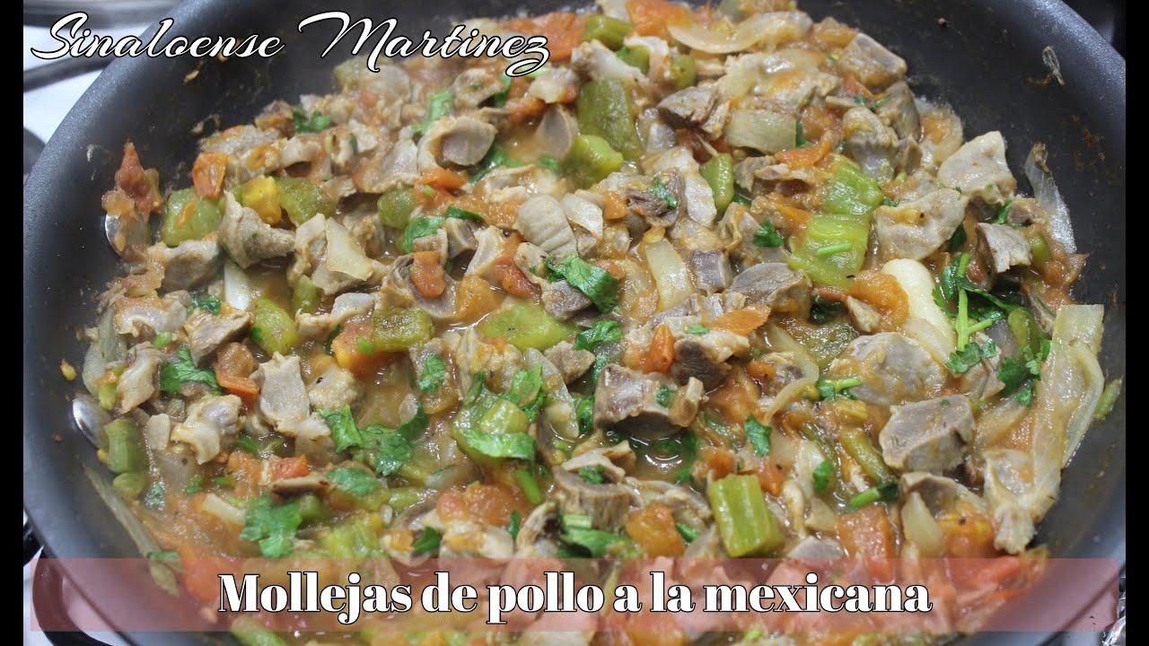 Ricas y saludables  MOLLEJAS de pollo  a la mexicana