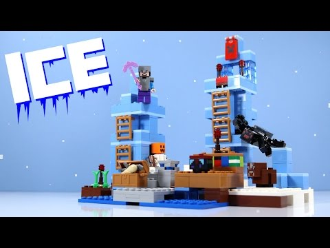 LEGO Minecraft The Ice Spikes Set 21131 With Spider & Baby Cow!