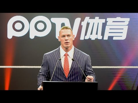 John Cena speaks Mandarin at WWE's historic press conference in China