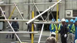 単管足場の組立て・解体技能伝承