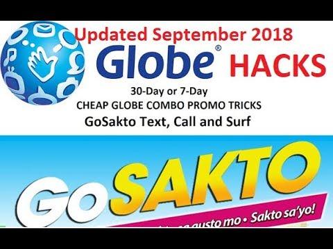 GLOBE GoSakto HACKS Updated September 2018