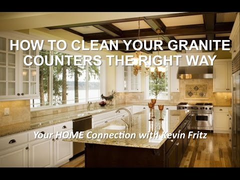 How to Clean Your Granite Counters The Right Way