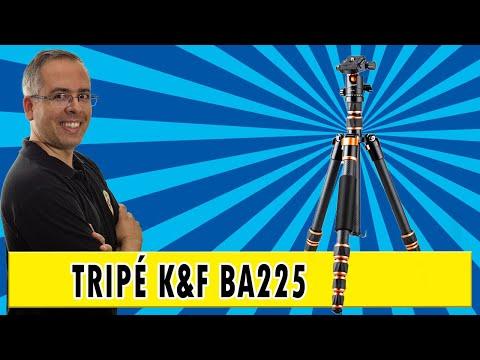 Review do tripé BA225 da K&F - tripé 2 em 1 de fibra de carbono