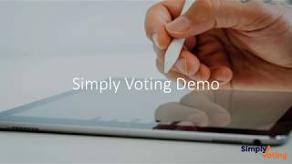 Simply Voting Demo - Standard Authentication