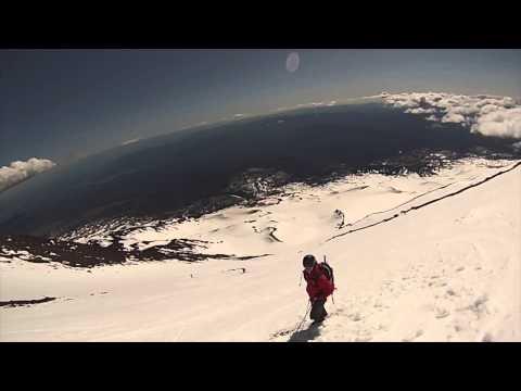 Skiing Mt Adams SW Chutes
