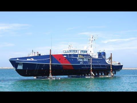 Philippine Navy's brand new transport vessel arrives today
