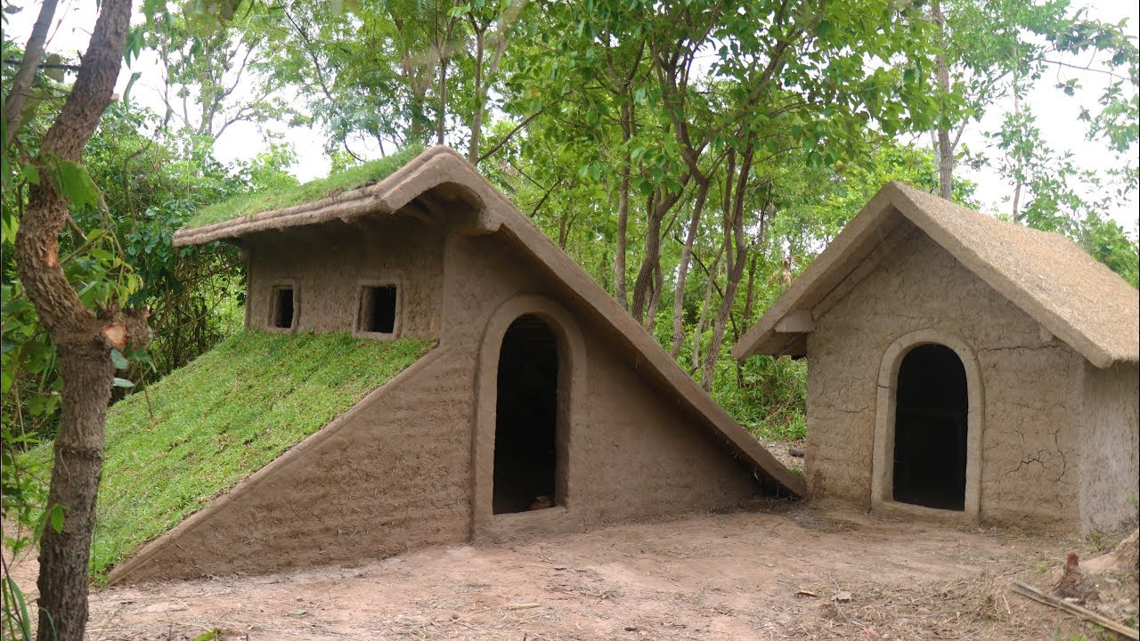 Build Roof Grass House Youtube