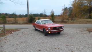 1964 1/2 Mustang Convertible Red Beauty Video 2