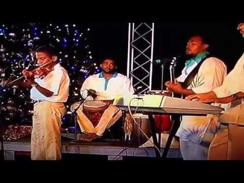 "Gordon Solomon and the Cayman Islands Folk singers performing ""Christmas Breeze"" 2011"