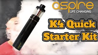 爆煙 電子タバコ vape 初心者向け スターター aspire k4 quick start kit review