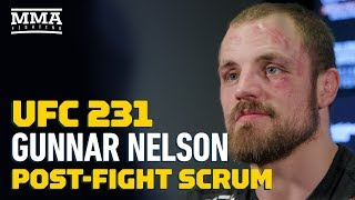 UFC 231: Gunnar Nelson Talks 'Nasty Cut' He Opened on Alex Oliveira, Choke Finish  - MMA Fighting