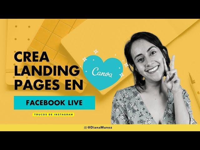 😮 Aprende a crear Landing Pages para tu Instagram con Canva | Forma Gratuita | Diana Muñoz