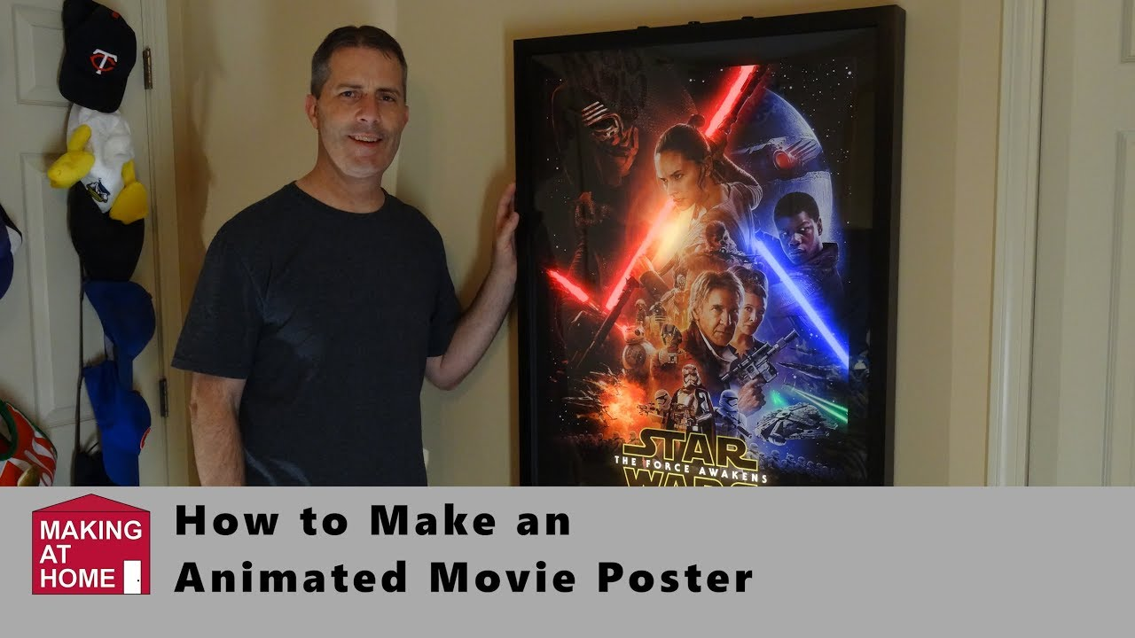 star wars the force awakens animated led backlit movie poster