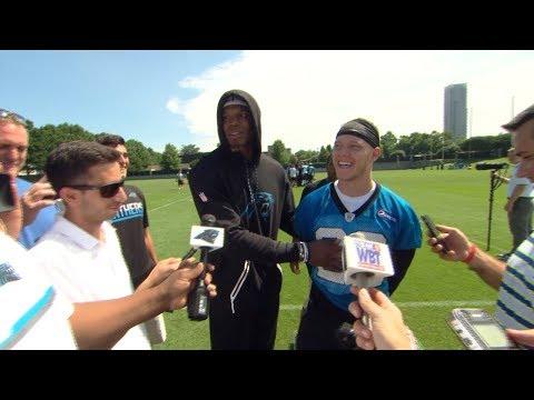 Cam Newton Crashes McCaffrey