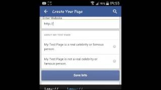 كيفية إنشاء Facebook الصفحة على الروبوت