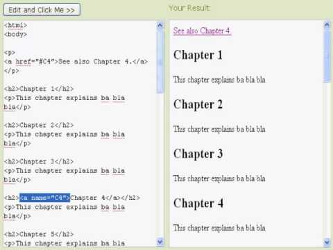 HTML Links By Eric Hamilton
