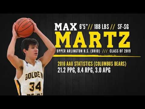 "BASKETBALL RECRUIT: Max Martz - SF/SG, 6'5"" (Upper Arlington High School - Class of 2019)"