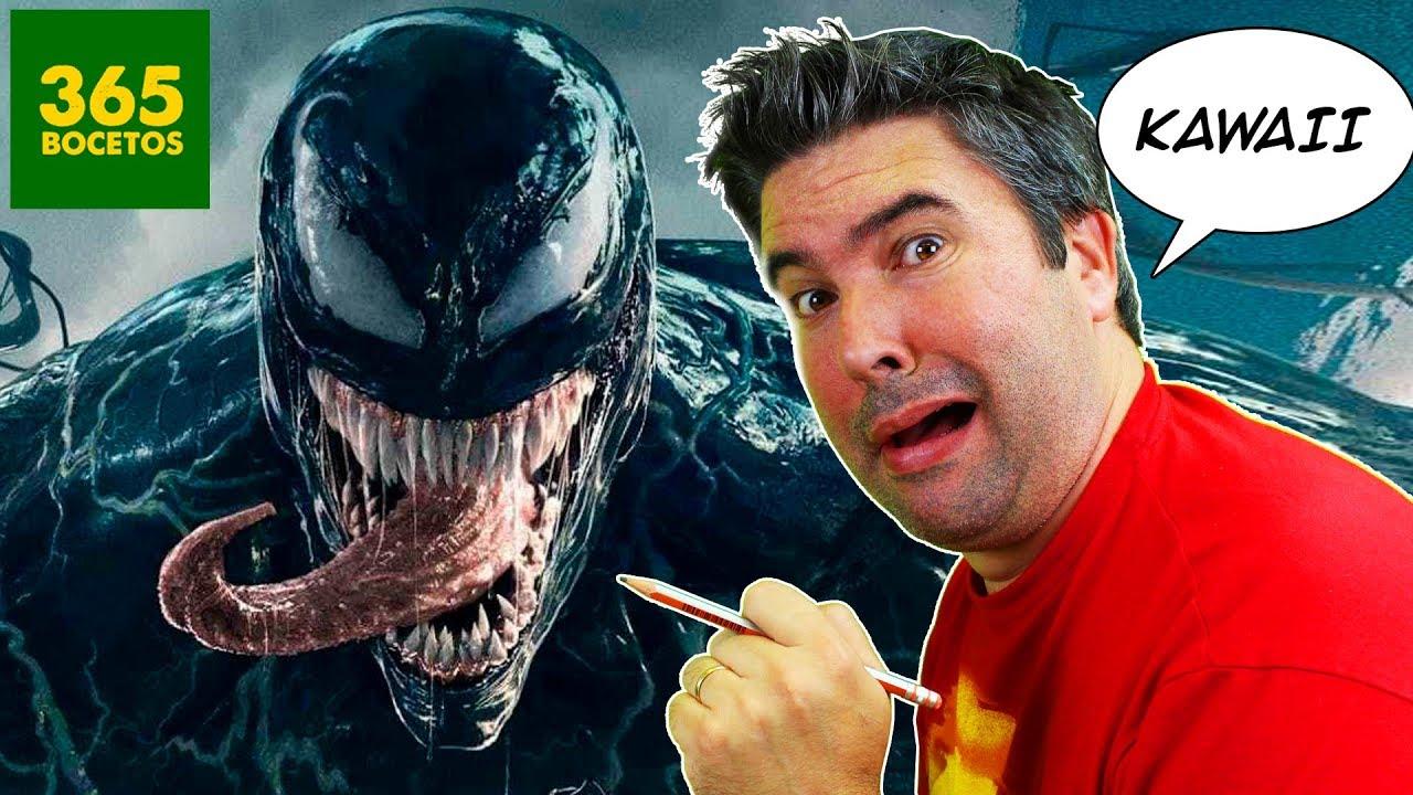 Como Dibujar A Venom Kawaii