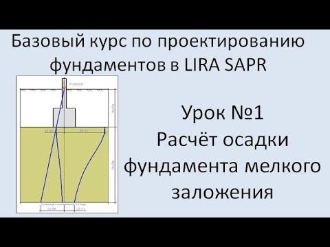 Базовый курс по проектированию фундаментов в Lira Sapr Урок 1