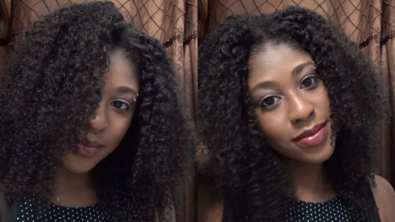 Blend Natural Hair With Curly Weave No Heat Cheetahprintangel