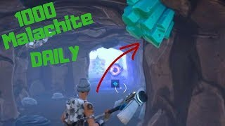 How to get 1000+ malachite in one day!!! Fortnite Save the world (with Facecam)