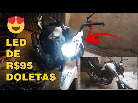ESTALANDO O LED NA TITAM 160, DELLY VLOG