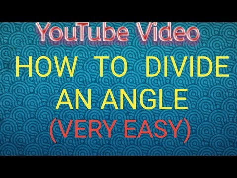 YouTube video-how to bisect an angle