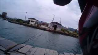 Butrint Albania cable ferry V-strom by Stolar