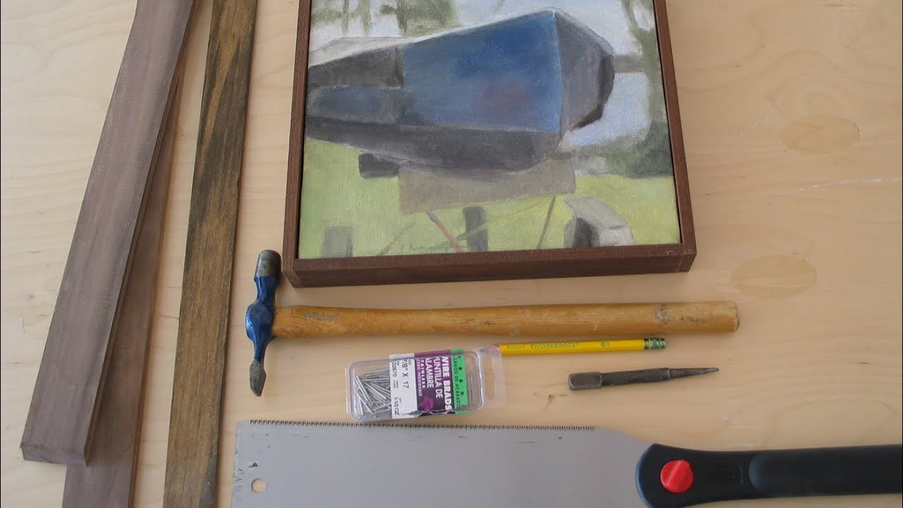 A simple way to frame your art work paintings by jon peters youtube solutioingenieria Gallery