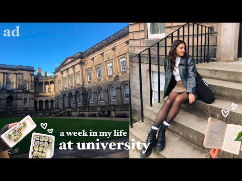 a week in my life at university 📖 studying, what i eat, edinburgh vlog!