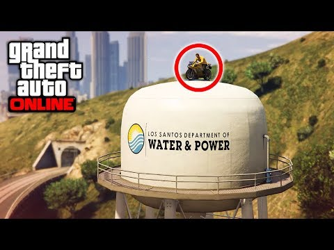 How Many WATER TOWER STUNTS Can I Hit in 180Min? - (GTA 5 Stunt Challenge) / (GTA V Funny Moments)