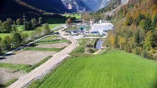 Golderner Herbst über dem Kraftwerk Dießbach HD Salzburg AG TV