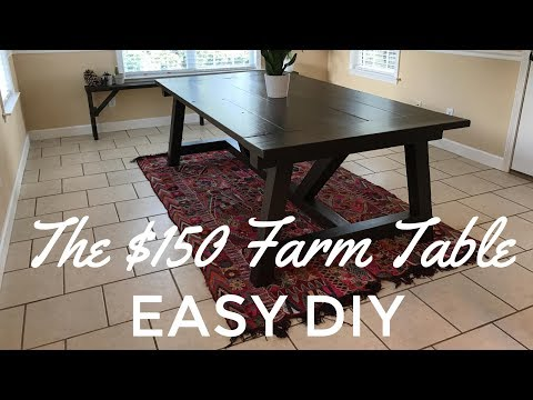 The Easy D.I.Y. $150 Rustic Farm Table Build