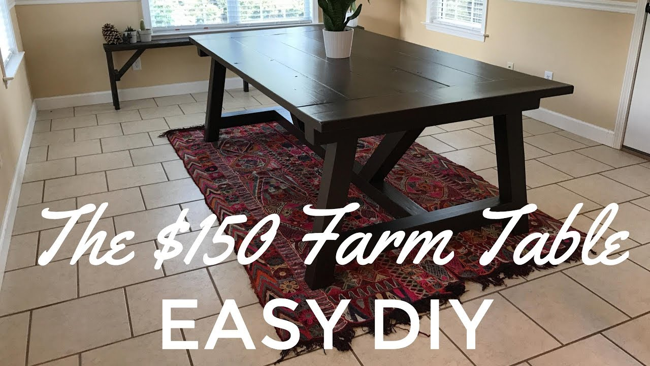 The Easy D I Y 150 Rustic Farm Table Build